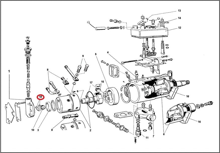 Ford 3000 Replacement Parts : Perkins engine diagram injection pump