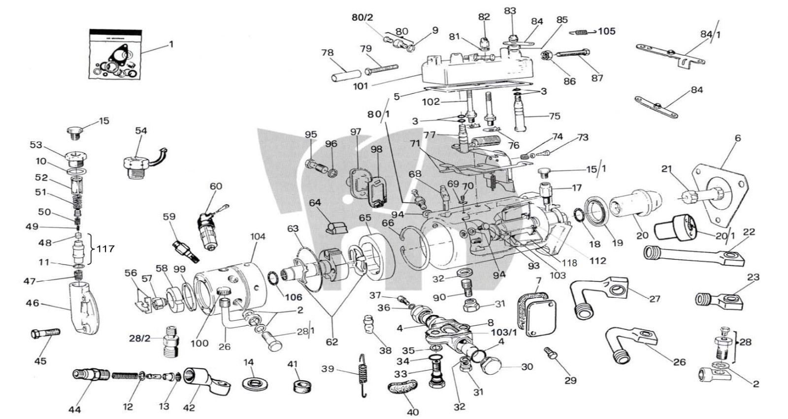 KEBP00640119 besides P652011 further P465800 further Overhaul Rebuild Kit Cav Lucas Dpa Rotodiesel Delphi Gasket Tractor  plete Oem furthermore Dixon Mower Wiring Diagram. on caterpillar engine exploded view