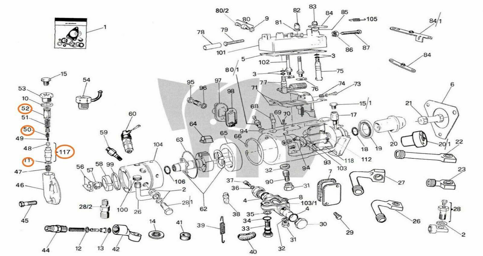 Delphi LUCAS CAV DPA Diesel Fuel injection pump gasket Seal Kit Fits David Brown